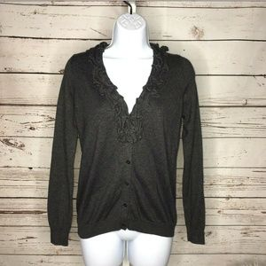 Talbots button front cardigan size small